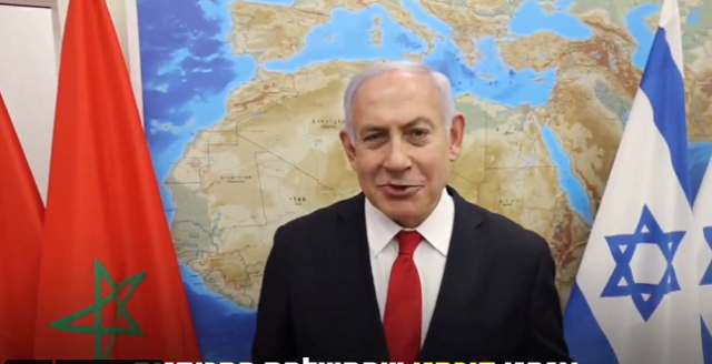Netanyahu Angers Moroccans for Displaying Divided Map of Morocco