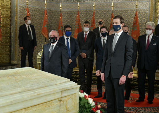 US-Israel Delegation Visits Tombs of Morocco's King Hassan II, Sultan Mohammed V