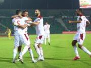As the few supporters present at the Stade de la Reunification were beginning to pack up, Raja Casablanca playmaker Abdelilah Hafidi, who played his first game in more than six weeks due to injury, scored the fifth goal for Morocco.