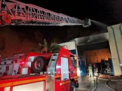 Fire Ravages Textile Factory in Tangier, Northern Morocco