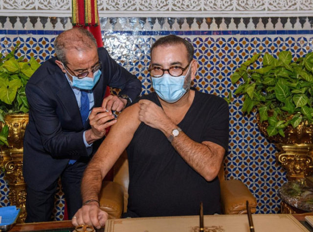 King Mohammed VI Receives Morocco's 1st Dose of COVID-19 Vaccine