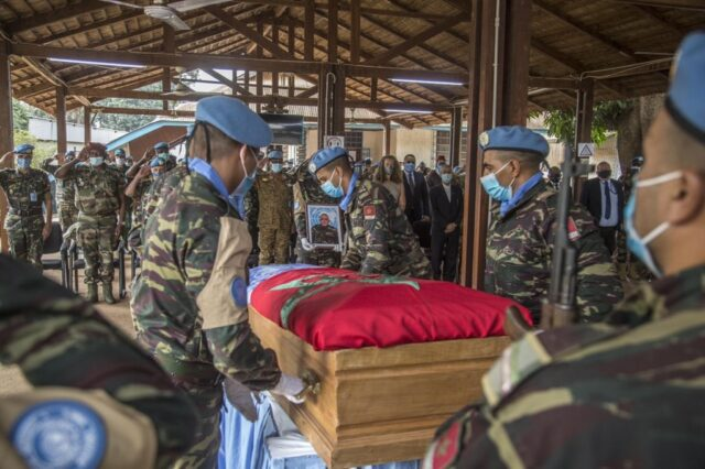 MINUSCA Pays Tribute to Moroccan Peacekeeper Killed on Duty