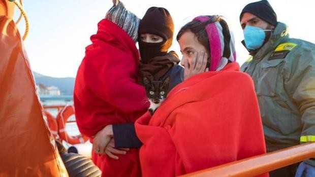 10-Year-Old Moroccan Irregular Migrant Carries Cat on Boat to Spain