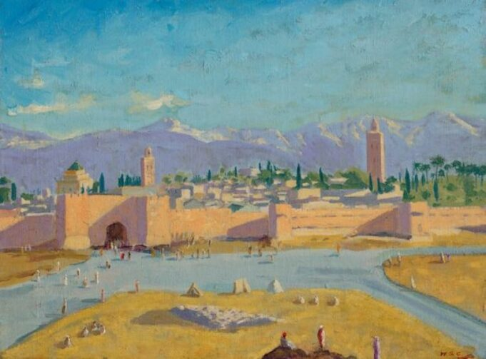 Tower of the Koutoubia Mosque by Winston Churchill. Courtesy of Christie's