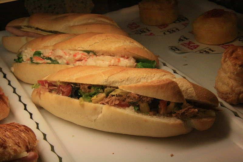 Morccan street food: Bocadillo. Photo: Tamorlan