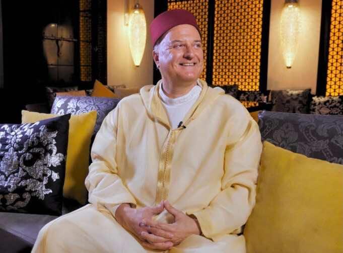 Israel's Envoy to Morocco David Govrin Poses in Moroccan Djellaba