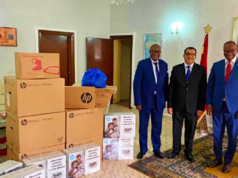 Morocco Donates Computers, Equipment to DRC Task Force