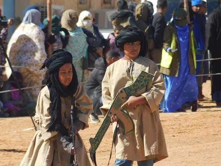 Photos: Polisario Front Exploits Children in Military Parade