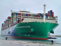 The World's Largest Container Ship Anchored in Morocco's Tanger Med
