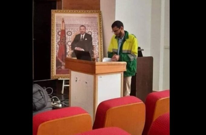 Moroccan Phd Researcher Defends Thesis in Sanitation Worker Uniform