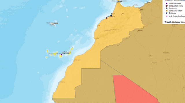 Western Sahara: US State Department, CIA Use Undivided Moroccan Map