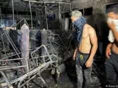 Hospital Fire Kills 82, Sparks Humanitarian Crisis in Iraq