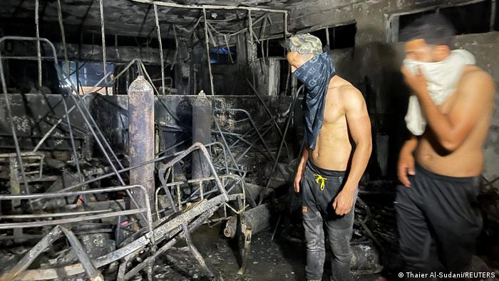 Fire at Iraqi Covid hospital kills more than 80, sparks anger