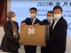 China's New Ambassador Distributes Food Baskets During Ramadan