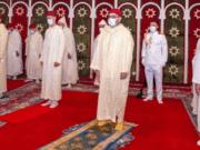King Mohammed VI Performs Eid Al-Fitr Prayers in Fez