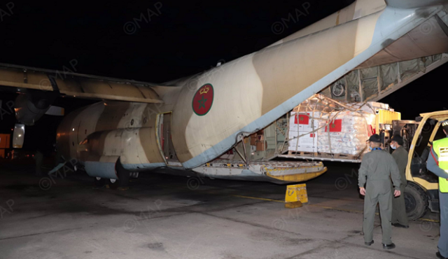 Second Batch of Morocco's Humanitarian Aid for Palestine Arrives in Jordan